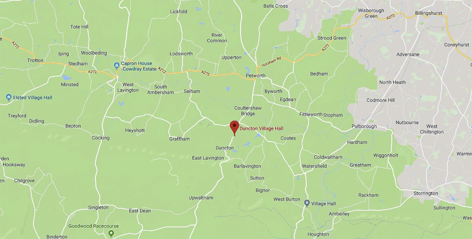 Google map of Duncton Village Hall